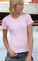 Fruit Of The Loom Lady-Fit Crew-Neck T-Shirt