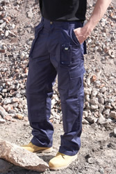 Caterpillar Workwear Polycotton Cargo Trousers Long