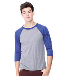 Canvas Three Quarter Sleeve Baseball T-Shirt