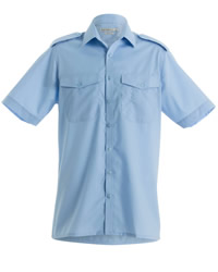 Kustom Kit Mens Short Sleeve Pilot Shirt