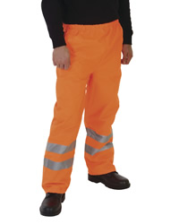 Yoko Workwear Hi-Vis Waterproof Contractors Trousers