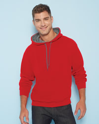 Gildan Mens Heavy Blend Contrast Hooded Sweat Shirt