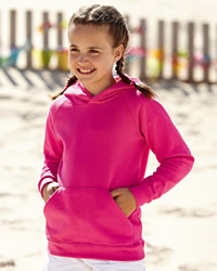 Fruit Of The Loom FOTL Kids Lightweight Hooded Sweat Shirt