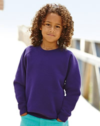 Fruit Of The Loom Childrens Raglan Sleeve Sweat Shirt