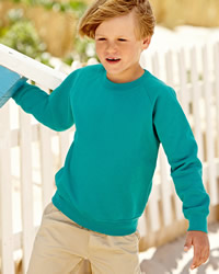 Fruit Of The Loom Children's Raglan Sleeve Sweat Shirt