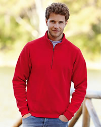 Fruit Of The Loom - Fruit Of The Loom Zip Neck Sweat Shirt