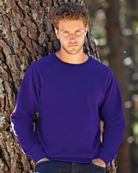 Fruit Of The Loom Raglan Sleeve Sweat Shirt