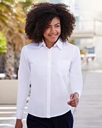 Fruit Of The Loom - Lady-Fit Long Sleeve Oxford Shirt