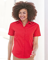 Fruit Of The Loom - Lady-Fit Short Sleeve Poplin Shirt