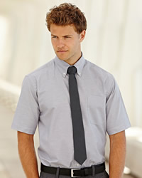 Fruit Of The Loom - Mens Short Sleeve Oxford Shirt