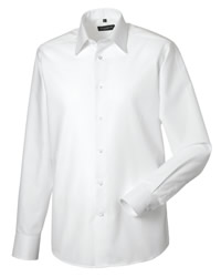 Russell Collection Mens Long Sleeve Oxford Shirt