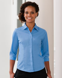 Russell - Ladies 3/4 Sleeve Poly Cotton Easy Care Fitted Polin Shirt