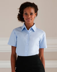 Russell - Ladies Short Sleeve Easy Care Oxford Shirt