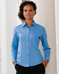 Russell - Ladies Long Sleeve Polycotton Easy Care Poplin Shirt
