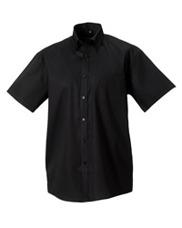 Russell Collection Mens Short Sleeve N.Iron Shirt
