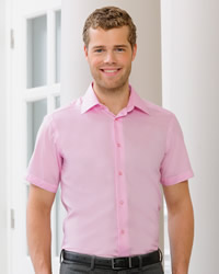 Russell - Mens Short Sleeve Tailored Ultimate Non Iron Shirt