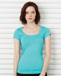Bella Sheer Rib Scoop Neck T-Shirt