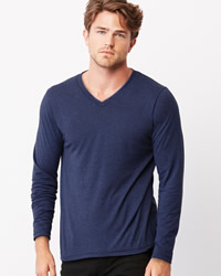 Canvas Triblend Long Sleeve V-Neck T-shirt