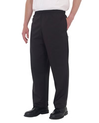 Dennys - Black Elasticated Trousers