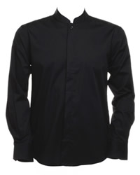 Bargear Mens Long Sleeve Mandarin Collar Shirt