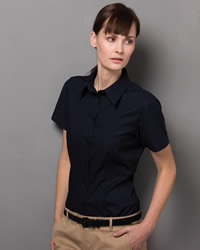 Kustom Kit - Ladies Workwear Oxford Short Sleeve Shirt