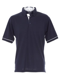 Kustom Kit Button Down Contrast Polo Shirt