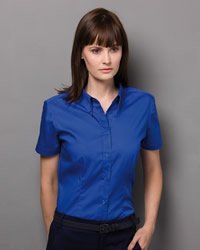 Kustom Kit - Ladies Coporate Oxford Short Sleeve Shirt