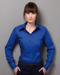 Kustom Kit - Ladies Corporate Long Sleeve Oxford Shirt