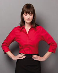 Kustom Kit - Ladies 3/4 Sleeve Corporate Oxford Shirt