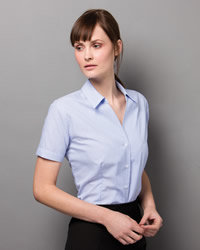 Kustom Kit - Ladies Pinstripe Short Sleeve Shirt