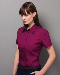 Kustom Kit - Ladies Short Sleeve Corporate Pocket Oxford Shirt