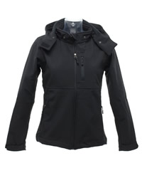 SG Ladies Hooded Contrast Softshell Jacket