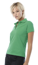 B and C Polo Shirts Safran Pure Ladies Short Sleeve Polo Shirt