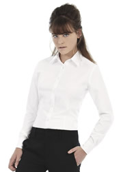 B and C - Ladies Oxford Long Sleeve Shirt