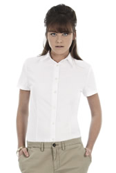 B and C - Ladies Oxford Short Sleeve Shirt