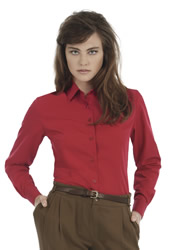 B and C - Ladies Smart Long Sleeve Poplin Shirt