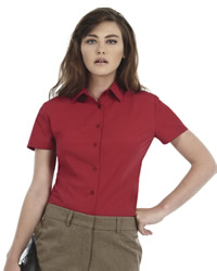 B and C - Ladies Smart Short Sleeve Poplin Shirt